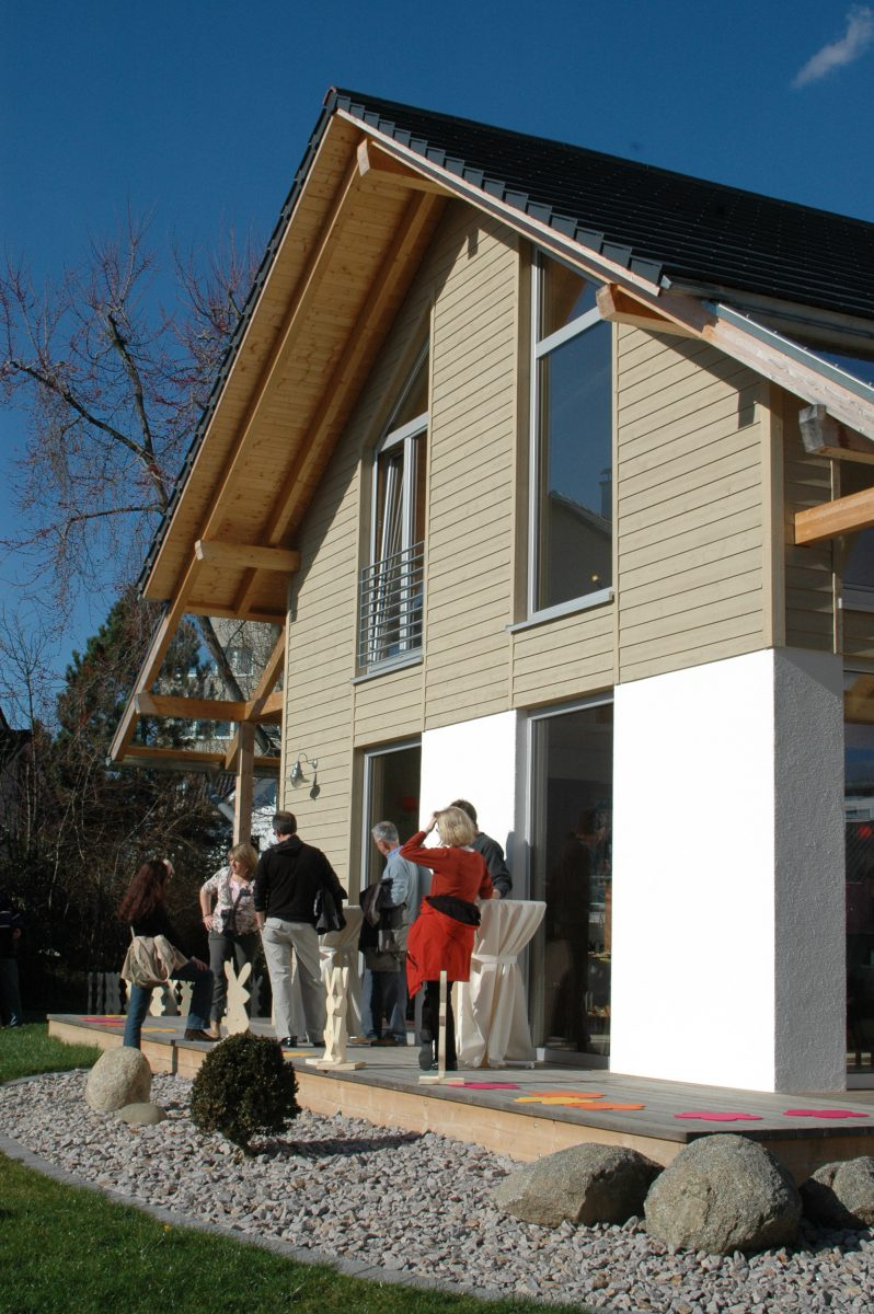 Eröffnung des Musterhauses Fellbach in der Musterhaus-Ausstellung Eigenheim & Garten bei Stuttgart