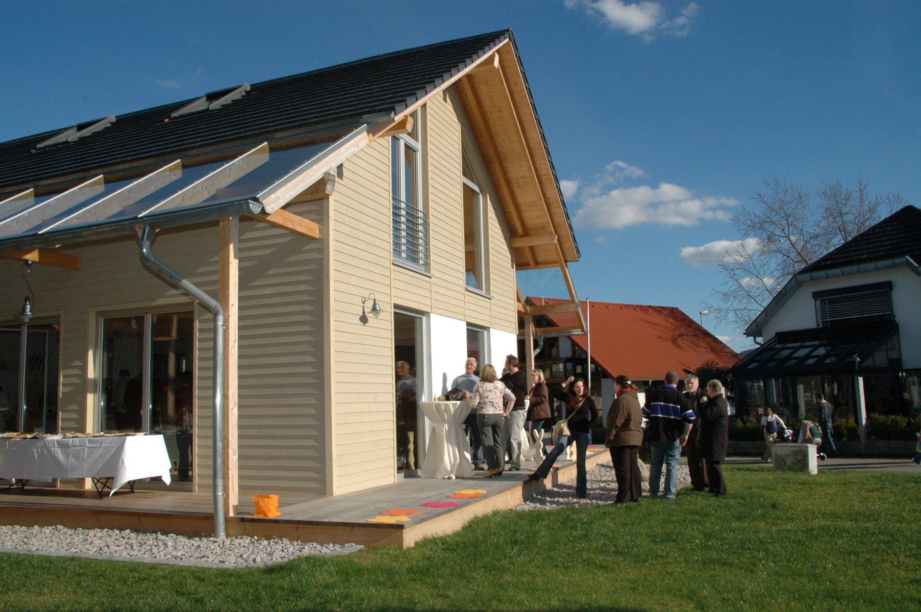 Eröffnung Musterhaus Fellbach in der Ausstellung Eigenheim & Garten bei Stuttgart
