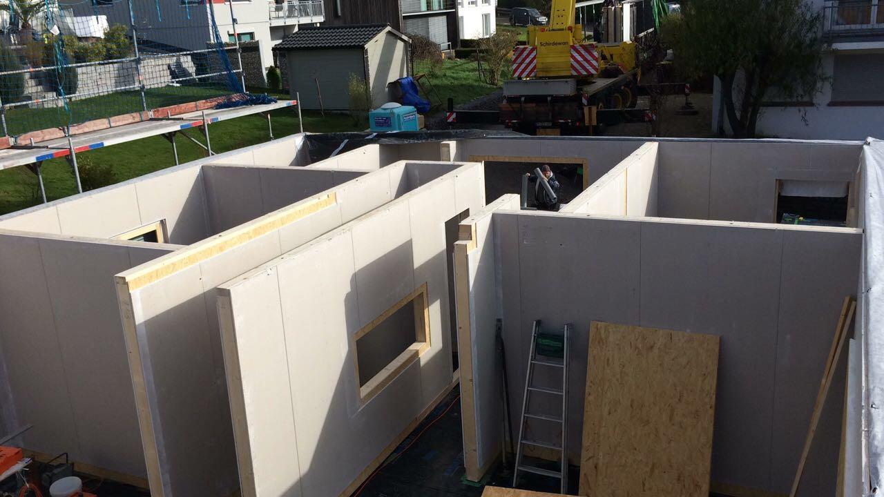 Auf der Lehner Holzhaus Baustelle in Bad Liebenzell