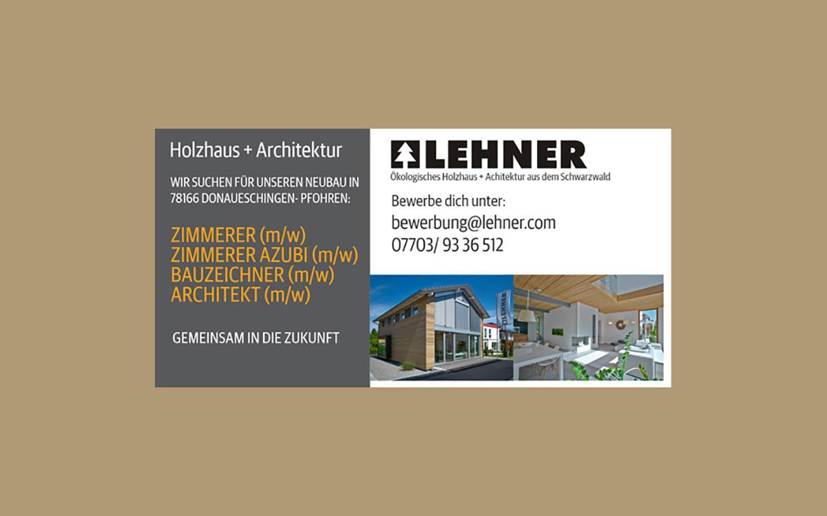 Stellenangebot Zimmer/innen und Azubis, Bauzeichner und Architekten in Donaueschingen