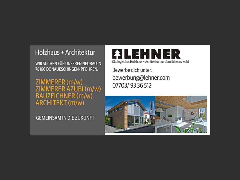 Stellenangebote Donaueschingen: Zimmerer, Bauzeichner, Architekten