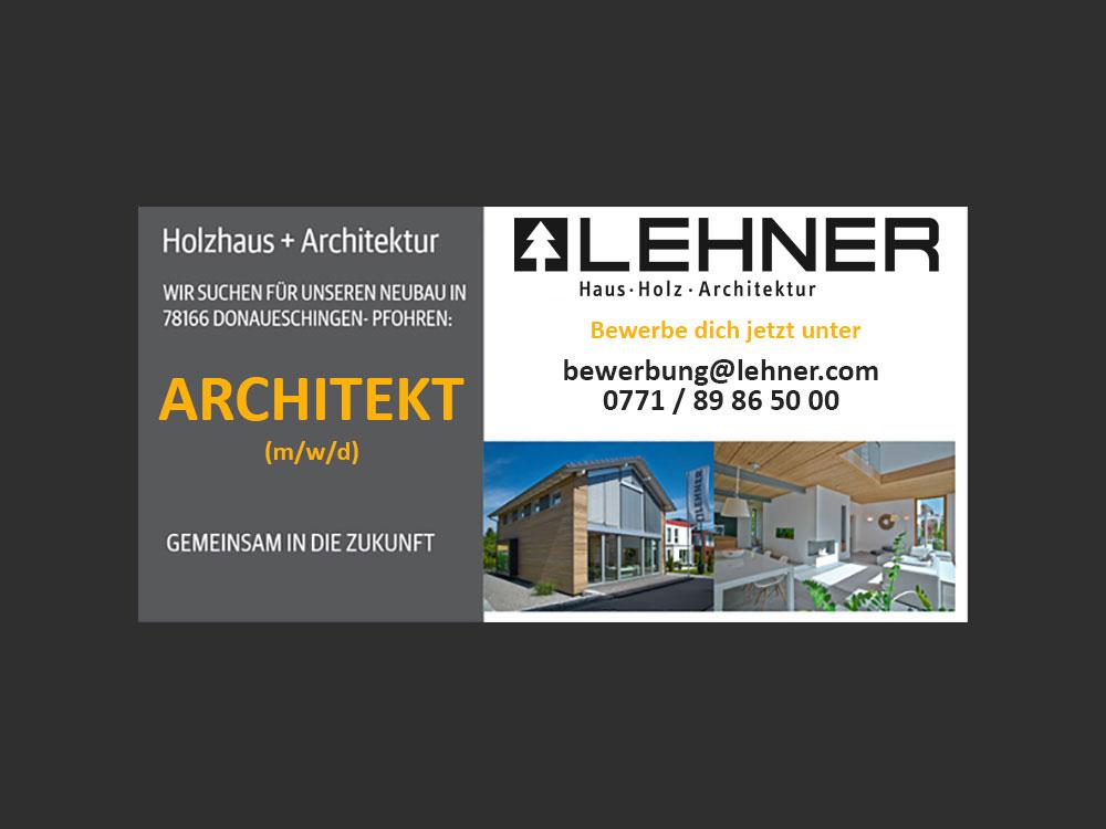 Lehner Holzhaus sucht Architekten